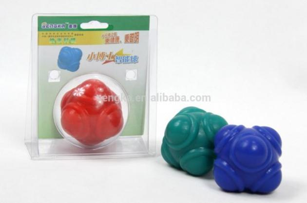 Hot selling 6cm Flexible speed reaction ball,training ball
