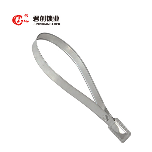 Pull up container lock metal strip seals wtih number