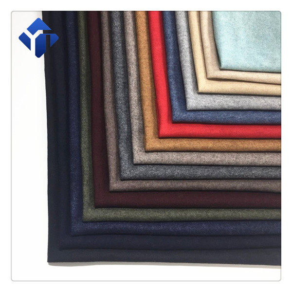 Multicolor customized knitted  plain clothing fabric