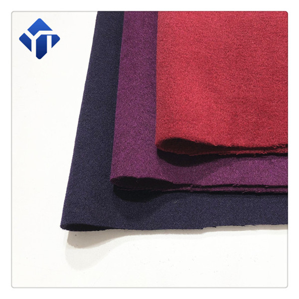 In stock multicolor twill melton fabric for women cloth