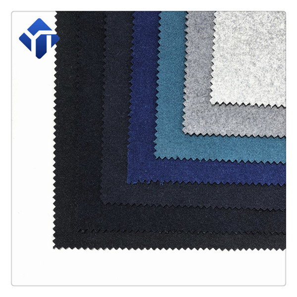 China fabric manufacturers multicolor melton wool coat fabric