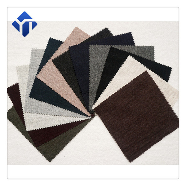 Factory multicolor yarn dyed strip flannel wool fabric for clothing