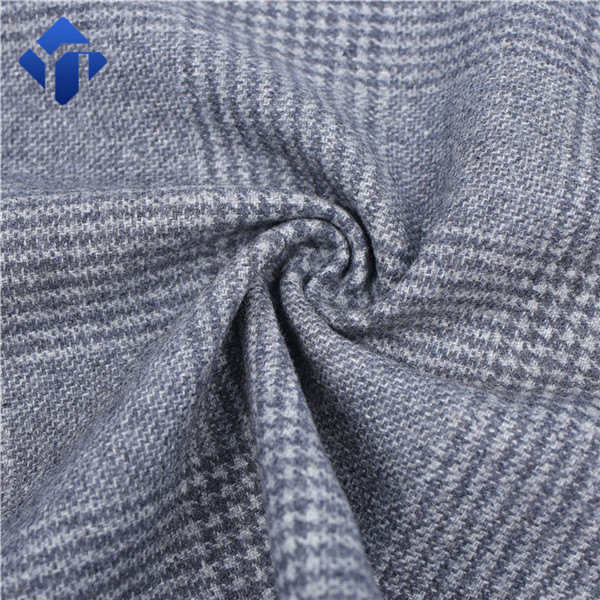 Fashion and popular plaid flannel wool fabric for man suit