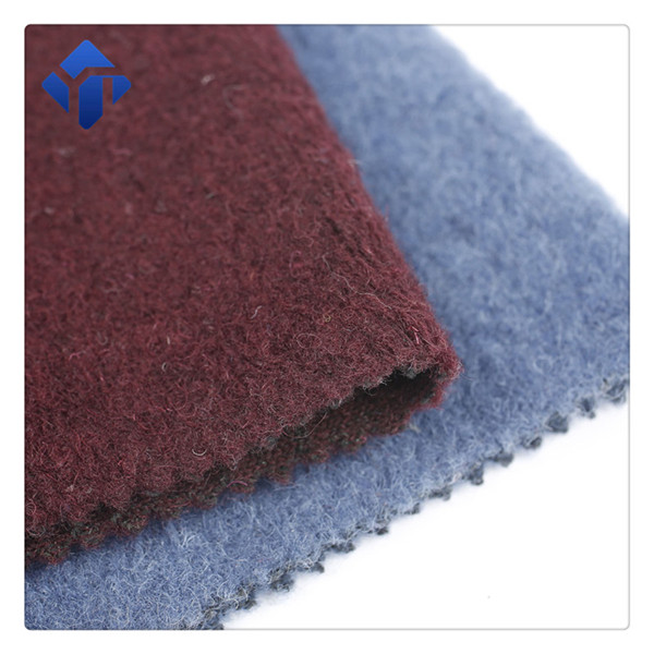 In stock China supply knitted wool jacquard solid fabric