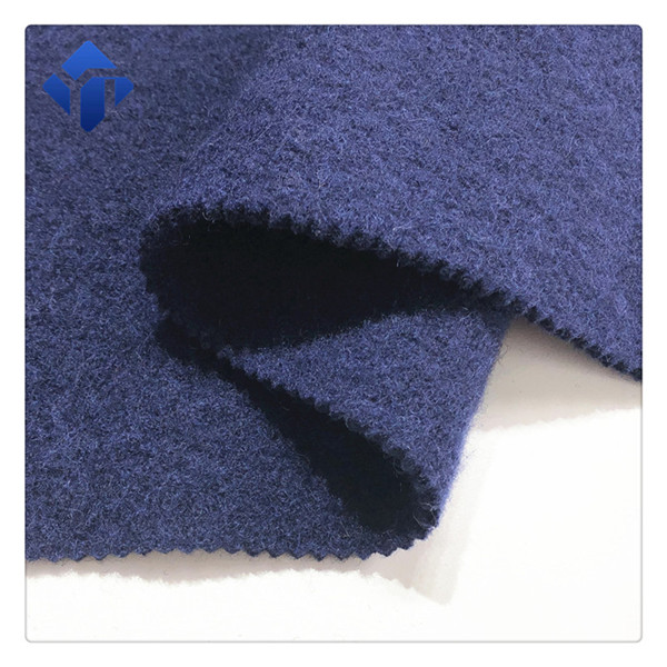Wholesale China supplier knitted 100% boiled wool fabric