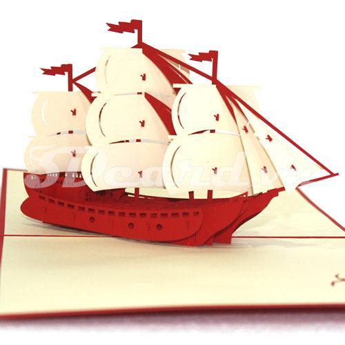 sailboat 1 3d card pop up card handmade card birthday card greeting