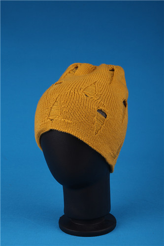 Top Grade Simple knitted Hollow out brocade hat