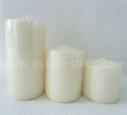 pillar candles white unscented