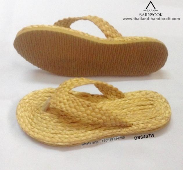 Summer Shoes Straw Flip Flops With