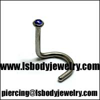 #1 Body Piercing Jewelry Beveled Nose Stud
