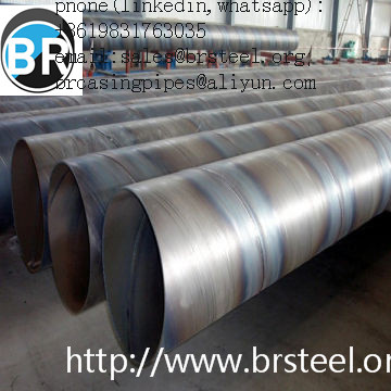API low carbon steel SSAW pipe for sell,ASTM A252 GR 3 SSAW  Steel Pipe, API 5L Welded  Black Paint