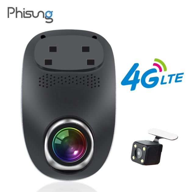 Phisung 4G ADAS dash camera dual cams HD1080P dash car camera