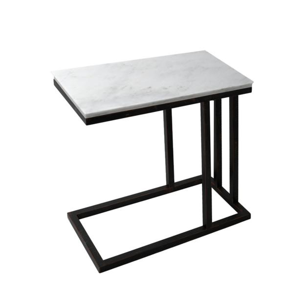 CT012 silhouette white rectangular box marble coffee tables