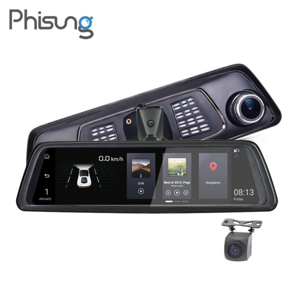 "Phisung 10"" 4G car dvr with dedicated bracket car video recorder"