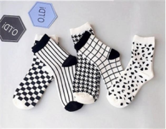 Fashion lovers plover case black and white socks