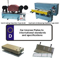 Hot Stamping Systems for Production of Car License Plates / Blank Number Plates