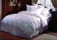 down feather or polyester fiber filled bedding products