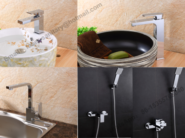 single handle square basin water faucet square kitchen faucet mixer tap