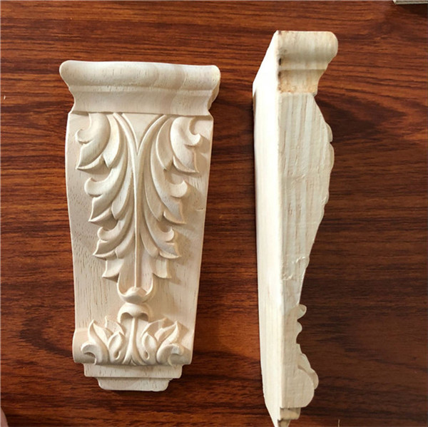 Rubber Wood Carving Corbel for furniture Decoration