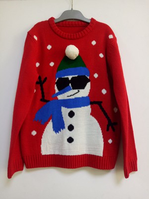 China hot selling Boy's crew neck  long sleeve pullover with snowman patter