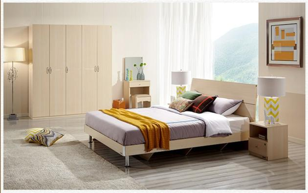 environment friendly wood bedroom furniture set