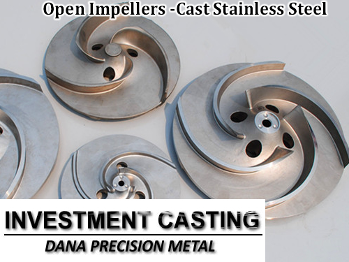 Impellers open impeller by precision investment castings