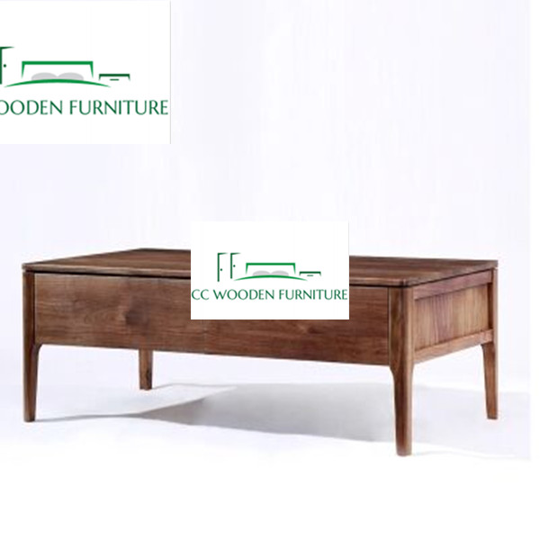 Nordic style wooden black walnut coffee table