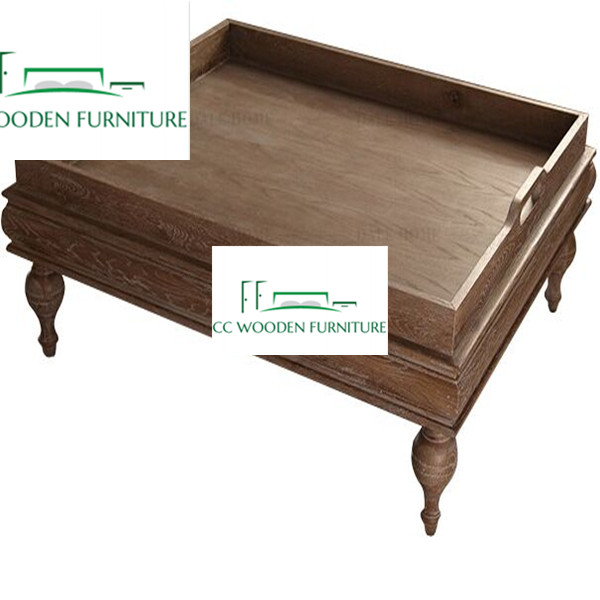 Nordic wood coffee table living room furniture