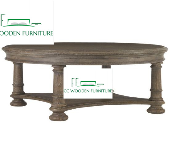 natural oak wood coffee table tea table round coffee table