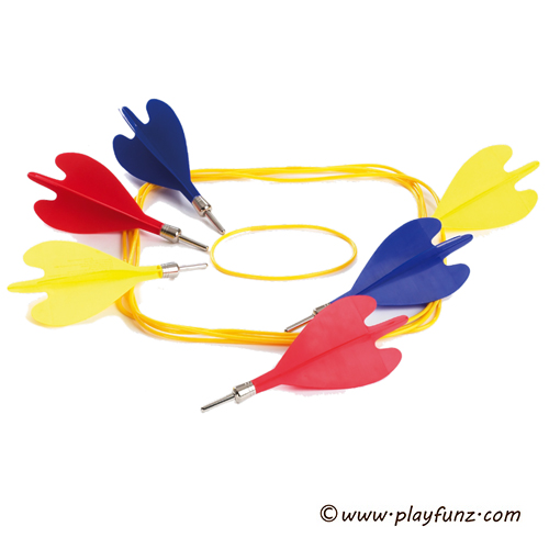 Outdoor Garden Sport Toy Lawn Darts Game Set Colorful Darts
