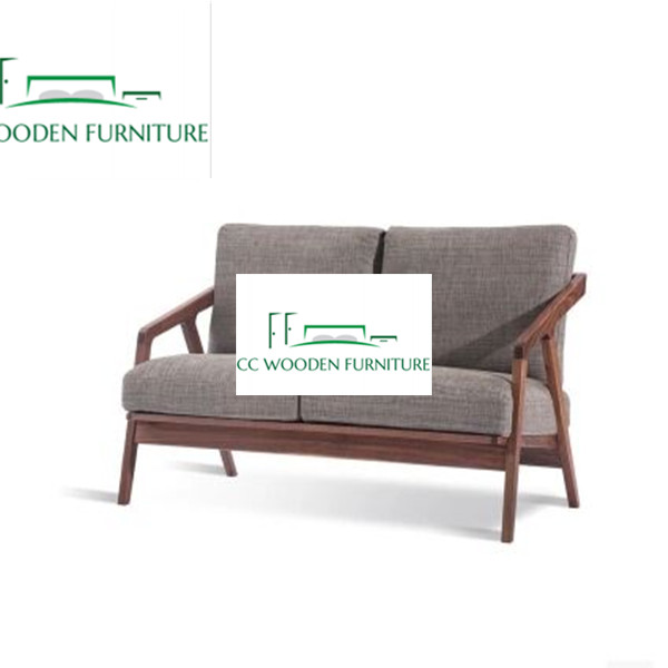 Nordic style black walnut wooden sofa living room furniture patio furniture