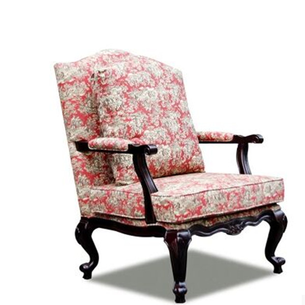 French style wood chair study room chair sleeper sofa