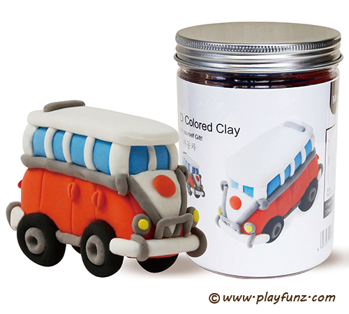 3D Colored Clay -Vintage Cars