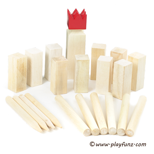 Outdoor Garden Lawn Sports Wooden Kubb Game Set for Children or Adults