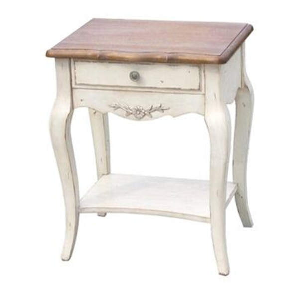 American bedside table classical solid wood bedside table nightstand end table