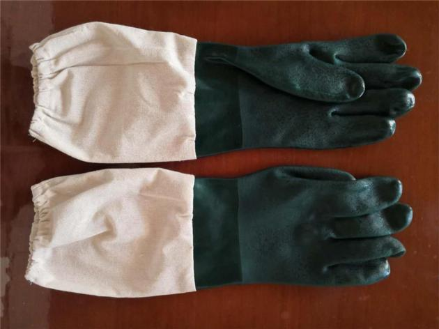 Beekeeping PVC Gloves with cloth sleeves