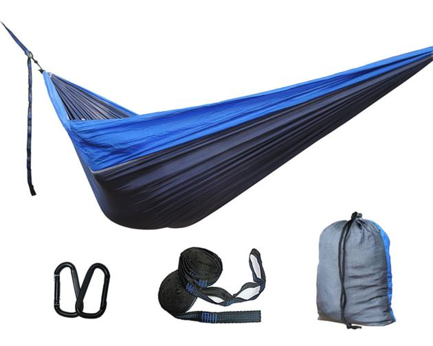 Single/Double Portable Camping Parachute Nylon Hammock with tree Straps for Backpacking travel