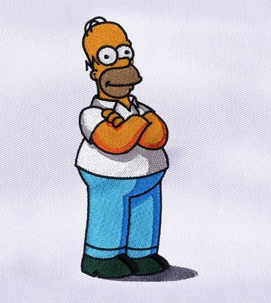 FUNNY AND INTERESTING HOMER SIMPSON EMBROIDERY DESIGN