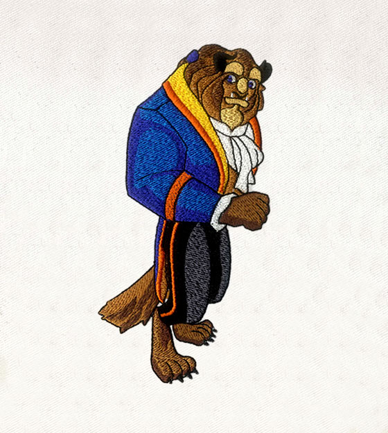 BEAUTY AND THE BEAST PRINCE EMBROIDERY DESIGN