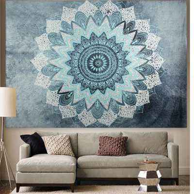 Indian Mandala Tapestry Wall Hanging Sandy Beach Throw Rug Blanket Camping Tent Travel Mattress Bohe