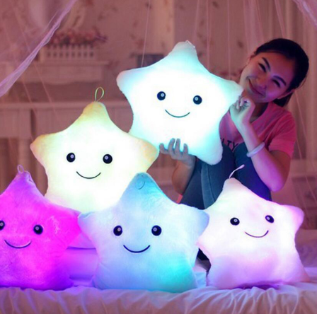 Led lamp luminous pillow colorful luminous pillow plush doll