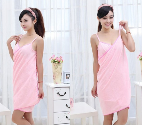 Home Textile TowelWomen Robes Bath Wearable Towel Dress Girls Women Womens Lady Fast Drying Beach Sp