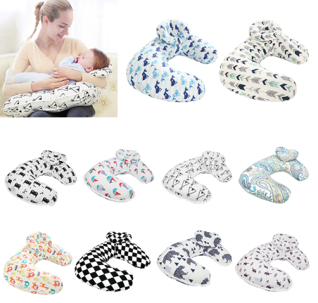 Baby Nursing Pillows Maternity Baby U-Shaped Breastfeeding Pillow Infant Cuddle Cotton Feeding Waist