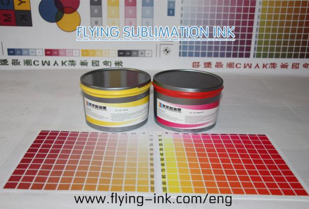Flying sublimation ink for heat transfer presses