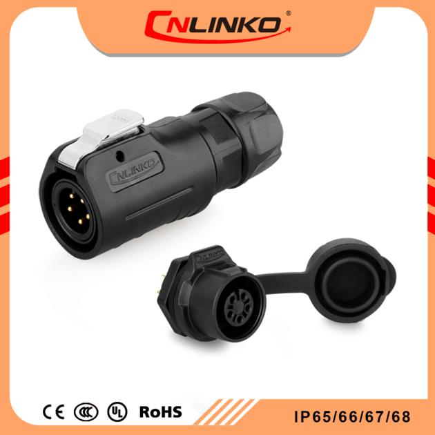 Cnlinko circular auto male female wiring electrical panel mounted power connector