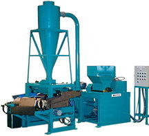Machine for recycles of cables, COPPER NUGGET