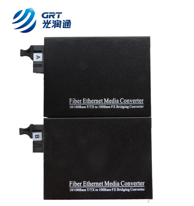 Fast Ethernet 10/100M fiber to ethernet single fiber 10km SC Optic Media Converter