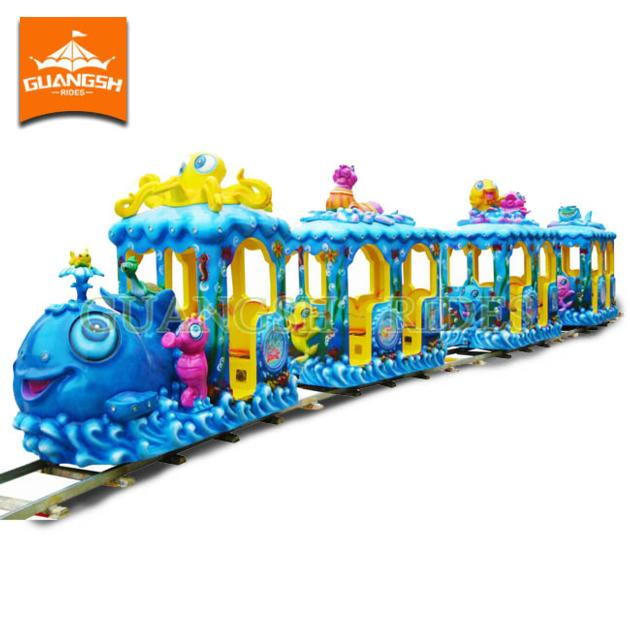Amusement Kids Rides Attractive Ocean Train with Track for Sale