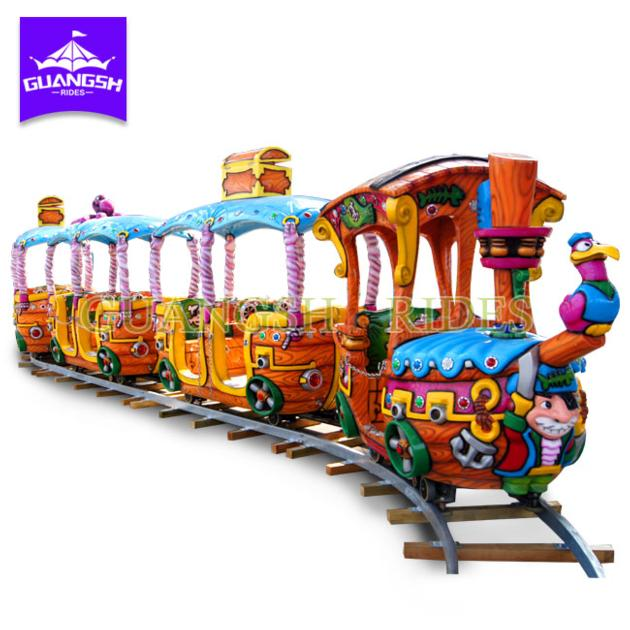 Hot Sale Amusement Kids Rides Electric Pirate Train with Track For Children