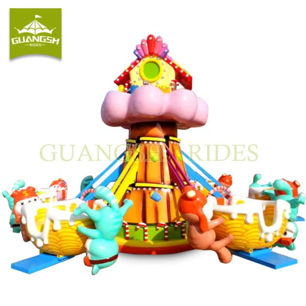 Kids Amusement Park Equipment Small Rotary Jet Self Control Plane Rides Manufacturer Candy Mice